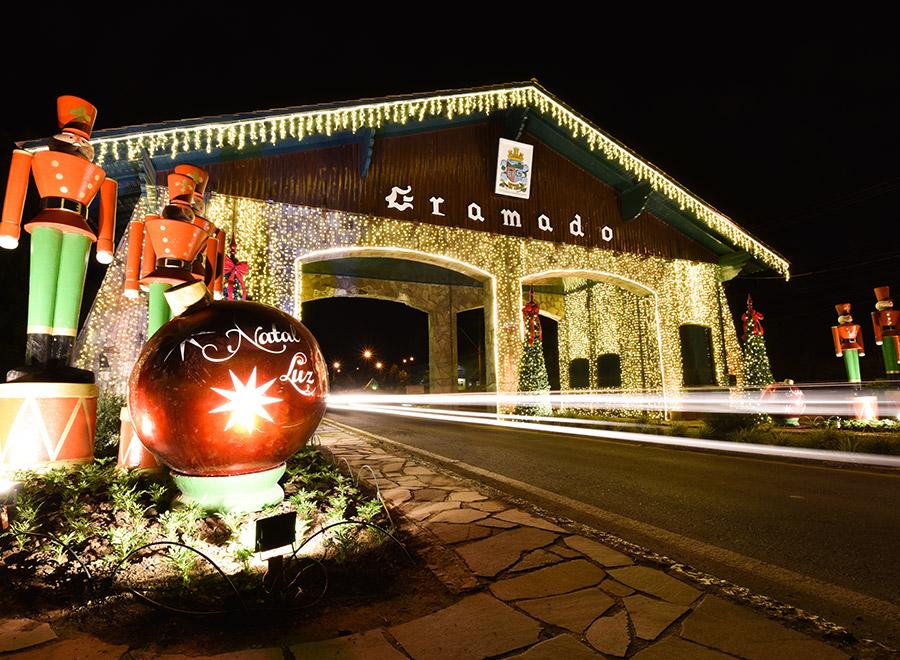 Decoração do Natal Luz de Gramado
